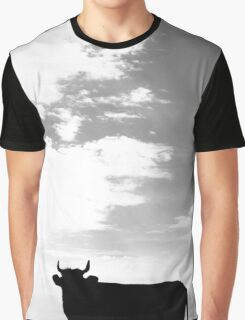 The silhouette of a bull on the sky Graphic T-Shirt