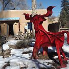 Sculpture and Snow, Santa Fe, New Mexico by lenspiro