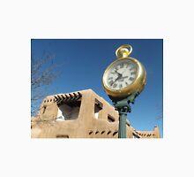 Classic Clock, Adobe Architecture, Santa Fe, New Mexico Unisex T-Shirt