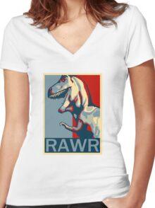 RAWR! American TREX Hope Spoof Women's Fitted V-Neck T-Shirt