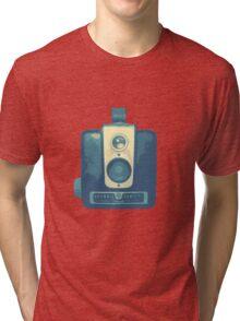 Classic Hawkeye Camera Design in Blue Tri-blend T-Shirt