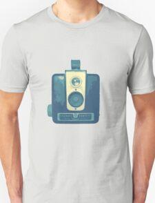 Classic Hawkeye Camera Design in Blue Unisex T-Shirt