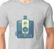 Classic Hawkeye Camera Design in Blue Unisex T-Shirt