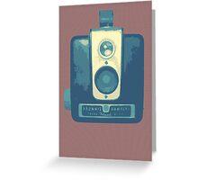 Classic Hawkeye Camera Design in Blue Greeting Card