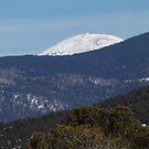 Snow Covered Mountain, Santa Fe, New Mexico by lenspiro