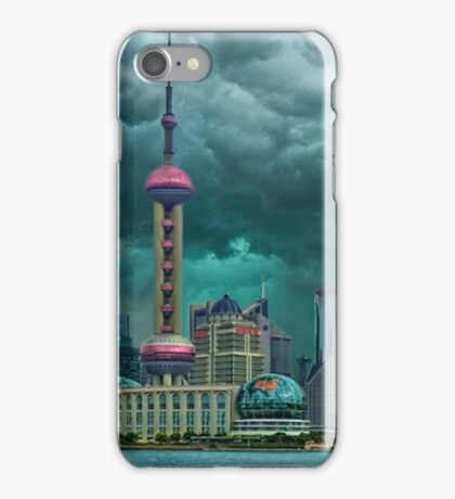 ☝ ☞Oriental Pearl Tower &BUILDINGS-PICTURE-PILLOW-TOTE BAG 东方明珠广播电视塔) IS A TV TOWER IN SANGHAI CHINA☝ ☞ iPhone Case/Skin