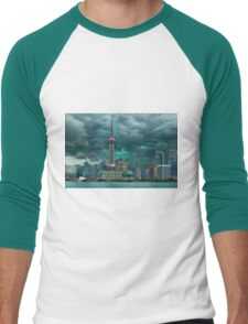 ☝ ☞Oriental Pearl Tower &BUILDINGS-PICTURE-PILLOW-TOTE BAG 东方明珠广播电视塔) IS A TV TOWER IN SANGHAI CHINA☝ ☞ Men's Baseball ¾ T-Shirt
