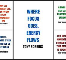 Tony Robbins Inspirational Quotes by IdeasForArtists