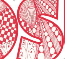 Ohio State University doodle Sticker