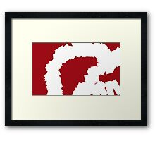 Smashed Ruby Abstract Painting Framed Print