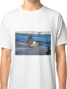 Canada Goose Landing at Ontario Beach in Winter Classic T-Shirt