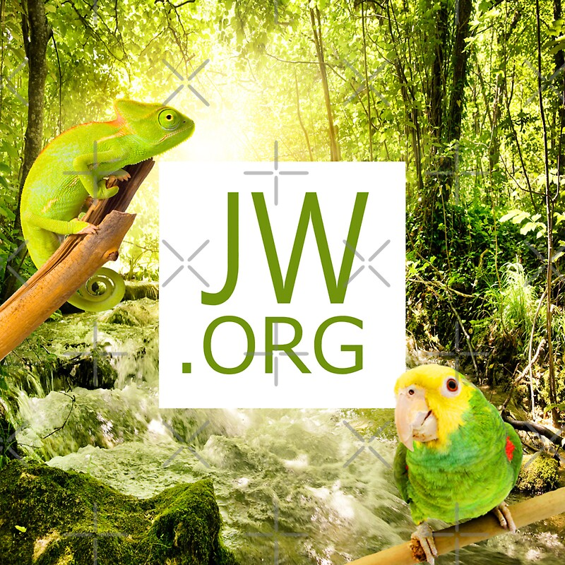 """JW.ORG (Forest)"" Stickers by JW Arts & Crafts 