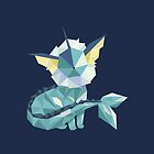 Origami Vaporeon by Jemma Richmond