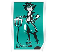 Kingdom Hearts - Sora (Teal) Poster