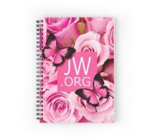 JW.ORG (Pink flowers) Spiral Notebook
