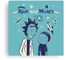 Retro Rick and morty Canvas Print