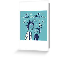 Retro Rick and morty Greeting Card