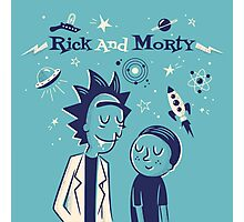 Retro Rick and morty Photographic Print