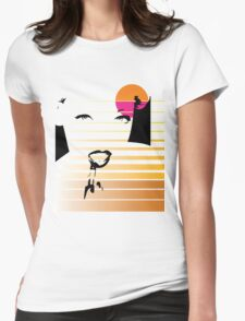Pinup Sunrise Womens Fitted T-Shirt