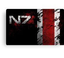 Mass Effect N7 distressed Canvas Print
