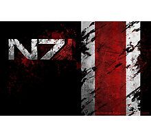 Mass Effect N7 distressed Photographic Print