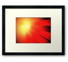 Comet Rays Framed Print