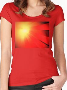 Comet Rays Women's Fitted Scoop T-Shirt