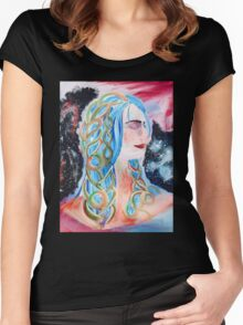 """""""Home"""" Surreal Woman/Pleiades/Orion Women's Fitted Scoop T-Shirt"""