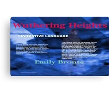 Wuthering Heights Figurative Language Canvas Print
