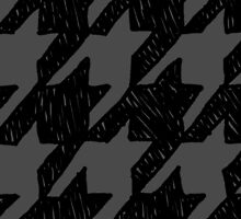 Scribble Houndstooth - Black and Gray by Madelei