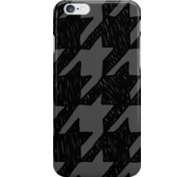 Scribble Houndstooth - Black and Gray iPhone Case/Skin