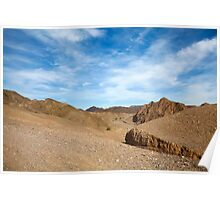 The colourful Eilat mountain range   Poster