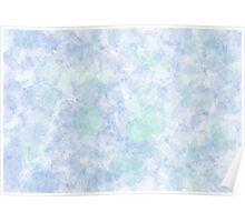 Pale Blue Petal Watercolour Poster
