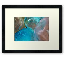 Coloured Ice Creation Print #2 Framed Print