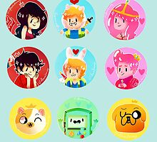 ADVENTURE TIME dots by coffeemakerway