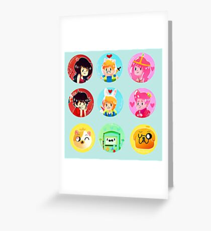 ADVENTURE TIME dots Greeting Card