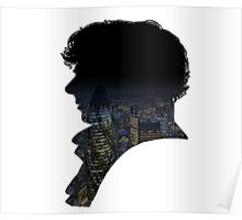 Sherlock watches over London. Poster