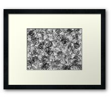 Charcoal Smudge - Watercolour Style Framed Print