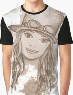 Steampunk Girl Graphic T-Shirt