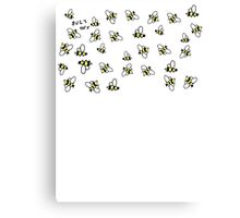 Buzz Off Bees Canvas Print