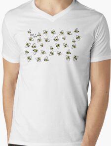 Buzz Off Bees Mens V-Neck T-Shirt