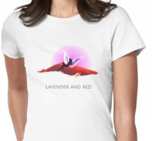 Lavender & RED  Womens Fitted T-Shirt