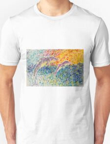 Dolphins Dancing at Sunrise T-Shirt