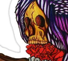 Skull and Owl Sticker
