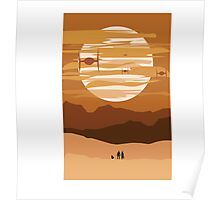 full Sunset and Ships Poster