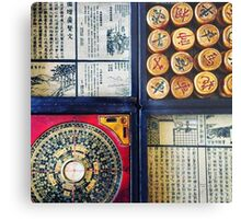 Chess and Compass Metal Print