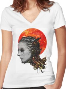 just a ghost in the shell Women's Fitted V-Neck T-Shirt