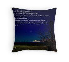 Bible Verse Matthew 6:9-13 Throw Pillow