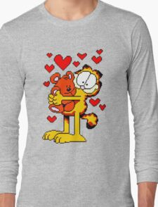 Garfield Hug Bear Long Sleeve T-Shirt