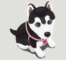 Mountain Siberian Husky Puppy Dog Wild Life T-Shirt by beedoo